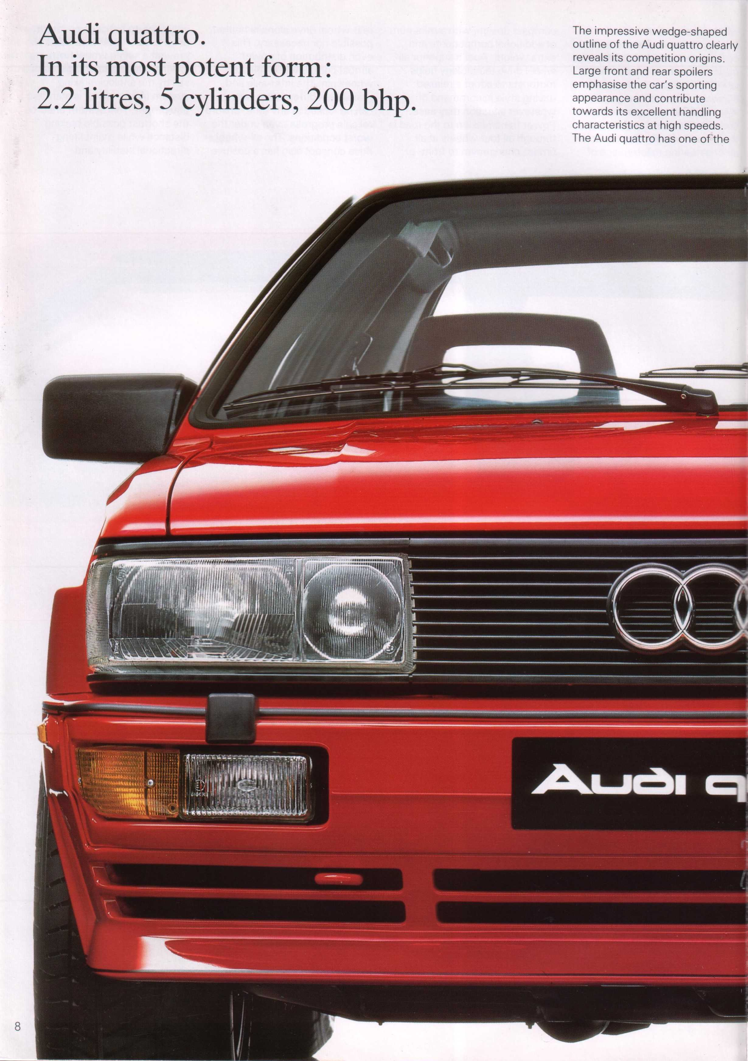 1987 Audi Quattro Related Infomationspecifications Weili 4000cs Fuse Box Diagram 86 Brochure